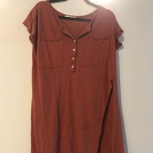 Rust colored long shirt